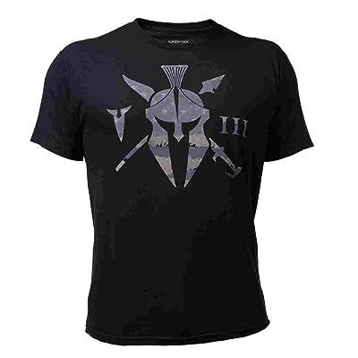 Kryptek Unit Tee Short Sleeve T-Shirt - Spartan Helmet & III Logo | .com