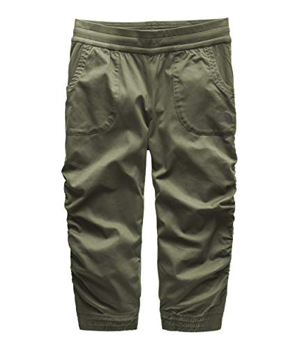 The North Face Girl's Aphrodite Capri, Four Leaf Clover, Size L (Ski Face Girls The Pants North)