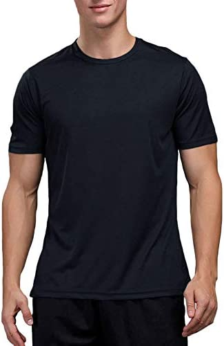 Men`s Dry Fit Athletic Shirts Big and Tall Short Sleeve Workout Shirt for Men Moisture Wicking T-Shirt