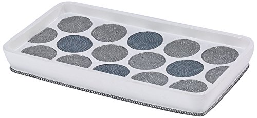 Avanti Linens 13870TY WHT Dotted Circles Shower Tray, White ()
