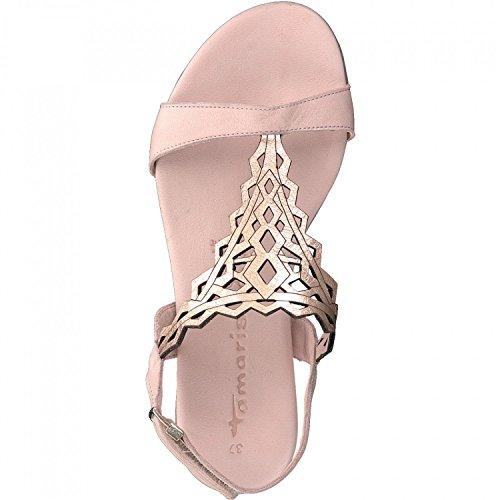 Tamaris 1-1-28126-20 Damen Sandale, Sandalette, Sommerschuhe Für Die Modebewusste Frau ROSE/ROSE GOLD