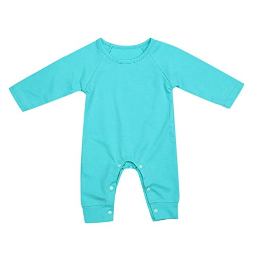 Diamondo Baby Romper Jumpsuit Playsuit, Newborn Baby Girls Love Printed Long Sleeve Cotton Soft Romper Green (0-6M) - Newborn Printed Coverall