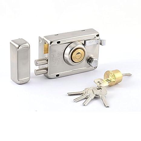 Cerradura de la puerta del hogar eDealMax metal bloqueo doble banda Borde derecho abierto w 5