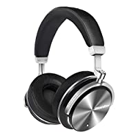 Bluedio T4S Active Noise Cancelling Bluetooth Headphones Over Ear with Mic, 57mm Driver Swiveling Wireless Headset, Wired and Wireless Headphones for Cell Phone/TV/ PC Gift from Bluedio