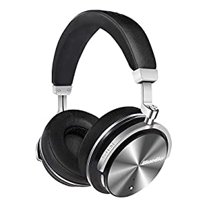 Bluedio T4S Active Noise Cancelling Bluetooth Headphones Over Ear with Mic, 57mm Driver Swiveling Wireless Headset, Wired and Wireless Headphones for Cell Phone/TV/ PC Gift