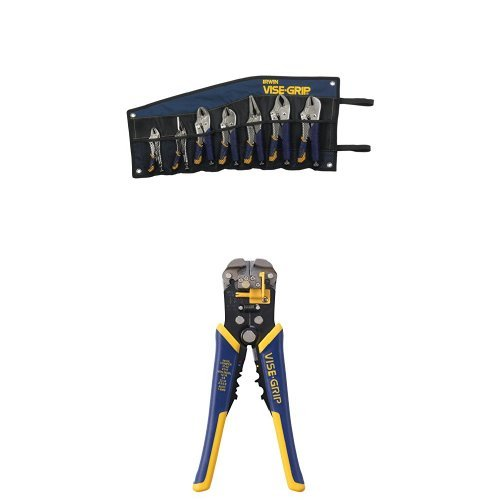 IRWIN Tools VISE-GRIP Locking Pliers Set, Fast Release and Self-Adjusting Wire Stripper