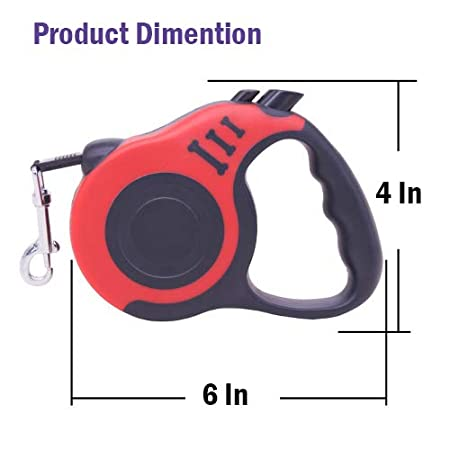 Blue//Red 5m Strong and Durable Nylon Woven Rope FadaStore Retractable Dog Leash Upgraded 360/° Tangle Free for Medium and Small Dogs or Cats,16ft One-Handed Brake and Anti-Slip Handle