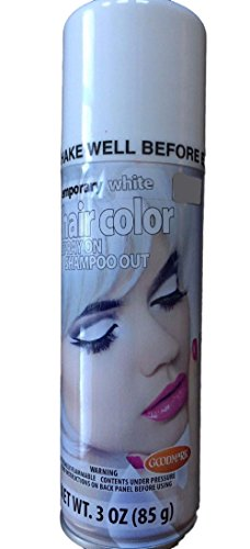 Temporary Hair Color White by Good Mark (Temporary Hair Color Spray)