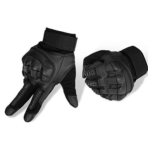 Yizhet Motorhandschoenen, sporthandschoenen, heren, volledige vingerhandschoenen met gevoerde achterkant, geschikt voor…