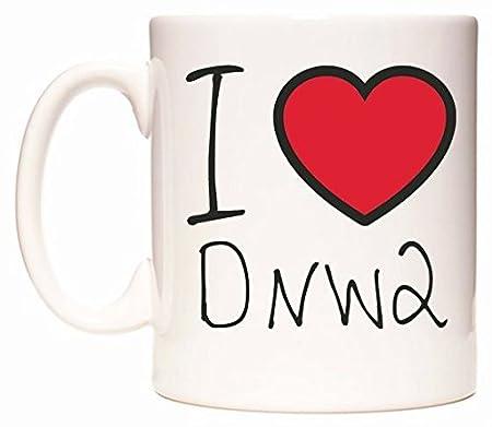 I Love DNW2 Taza por WeDoMugs: Amazon.es: Hogar