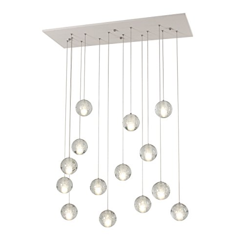 LightInTheBox Pendant Light Crystal Ball Chandeliers Dimmable With Remote Control Ceiling Lighting Fixture Dining Room, Living Room Lamp Bulb Included (Warm White)