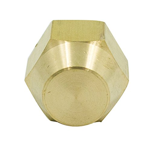 (Vis Brass CA360 Flared Tube Fitting, SAE 45 Degree Flare, Cap, 5/16