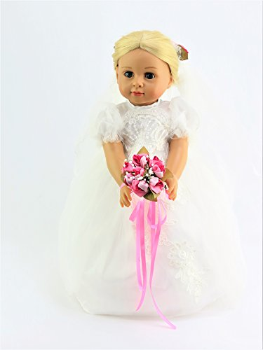 - Beautiful Bride with Hot Pink Flowers | Fits 18