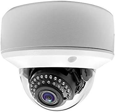 Gawker HD TVI Vandal Proof Dome CCTV Camera, 1080P, IP66 Weather Proof, 2.8-12mm Varifocal Lens, IR Smart 100ft, DNR OSD, White Color Metal case, Dual Voltage DC12V AC24V.