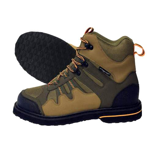 Frogg Toggs Anura Sticky Rubber Wading Shoe, 11, Olive/Camel, Outdoor Stuffs