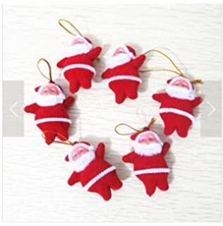 domire christmas tree decoration santa claus doll 1 set6pcs red