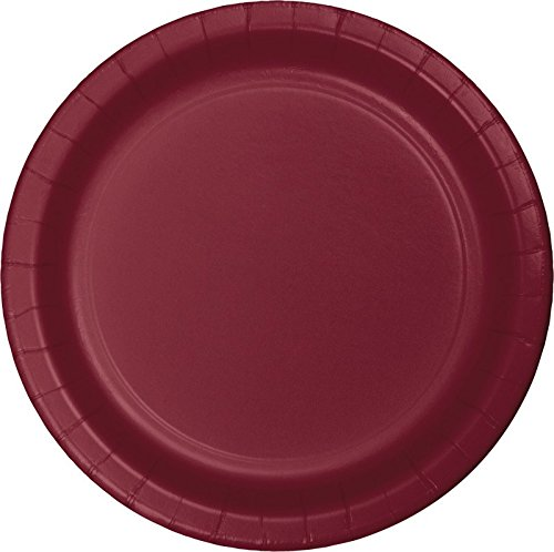 Club Pack of 240 Burgundy Disposable Paper Party Banquet Dinner Plates 9