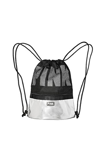Victoria's Secret PINK Black Drawstring Backpack For Sale