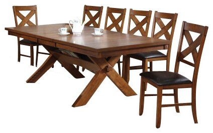 ACME Apollo Casual Dining Room Set with Dining Table and 6 x Dining Chair