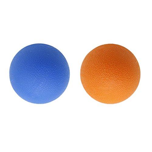 科学委任する植物学者dailymall マッサージボール トリガーポイント ラクロスボール 弾性TPE ストレッチボール 多色選べる - オレンジブルー