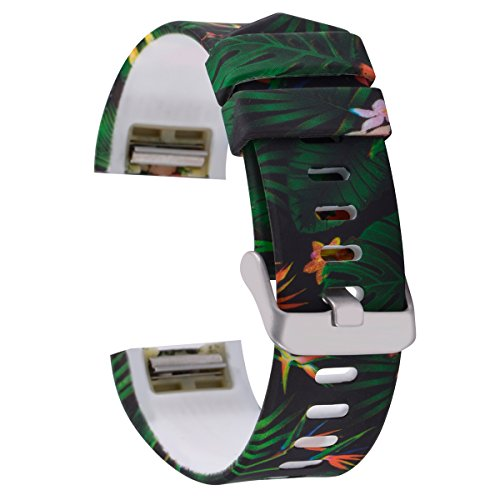 AIWELL Compatible for Fit bit Charge 2 Bands,Silicone Adjustable Replacement Sport Strap Printed Bands with Classic Buckle for Fit bit Charge2 HR,Fit bit Charge 2 Accessories Wristbands