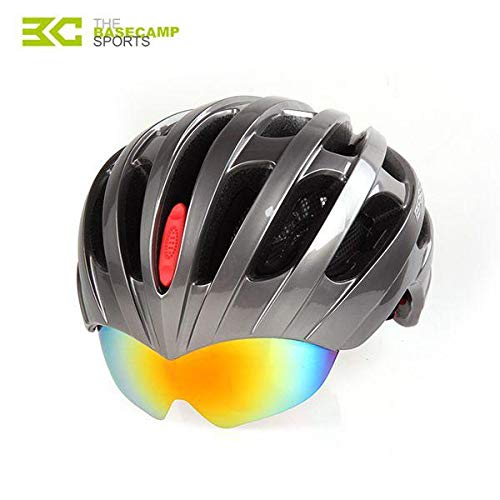 Anddoa 自転車 サイクリング ライディング ヘルメット MTB ライディングヘルメット ゴーグル3個付き  チタン B07PFRL4PB