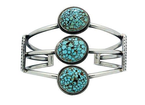 Bracelet Cuff Set Mountain (Freddie Maloney, Bracelet, Turquoise Mountain, Silver, Navajo Handmade, 6.5)