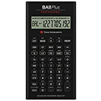 Texas Instruments BA II Plus Professional Advanced Financial Calculator
