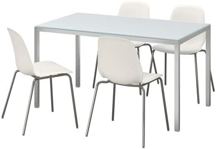 Amazon.com - IKEA Table And 4 Chairs, Glass White, White 4204.20517.2238 - Table & Chair Sets