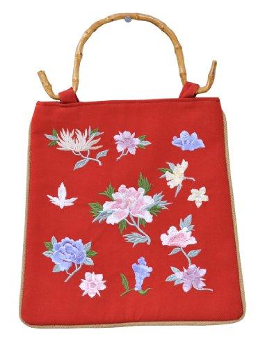 womens-bamboo-handle-floral-clutch-handbage