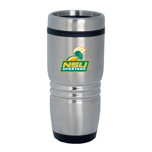 Norfolk State Rolling Ridges Silver Stainless Tumbler 16oz 'Official Logo' by CollegeFanGear