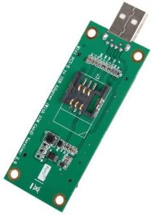 Mini PCI-E inalámbrico WWAN a USB adaptador tarjeta con ranura para tarjeta SIM módulo herramientas de prueba CableCC