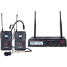 Nady U-2100 Dual Combo LT-GT 200-Channel UHF Wireless Lavalier Microphone and Instrument/Guitar System