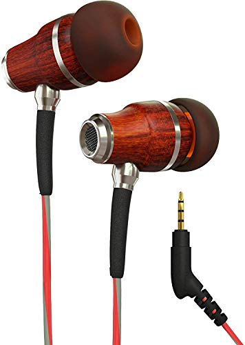 Shopizone Wired Earphone in Ear Headphones with Microphone and Volume Control, Noise Cancellation   Red