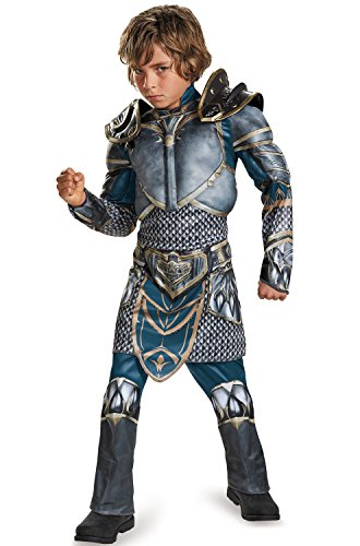 Lothar Classic Muscle Warcraft Legendary Costume, (World Of Warcraft Halloween)