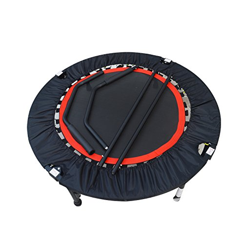 Jump Sport Fitness Trampoline with Hand Rail Foldable by Sporting Goods