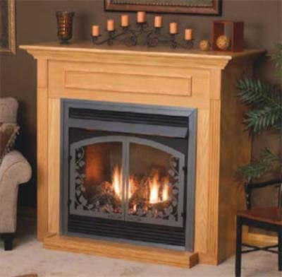 Empire Comfort Systems Standard Cabinet Mantel EMBF3SO with Base - Oak