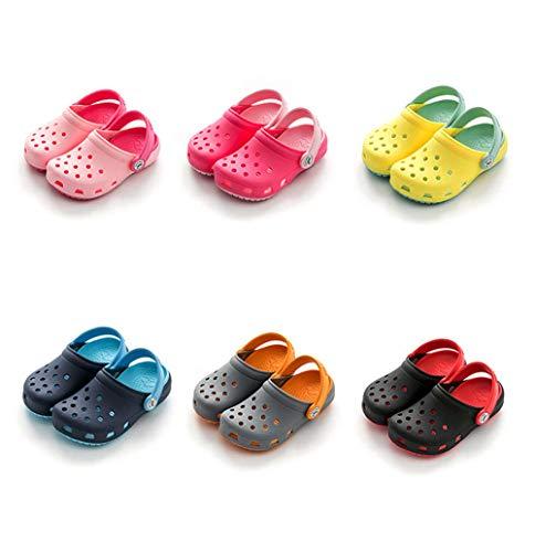 - TUZAMA Toddler Kids Boys Girls Comfort Clogs Lightweight Garden Shoes Children Water Pool Beach Sandals Slip On Summer Slippers Yellow