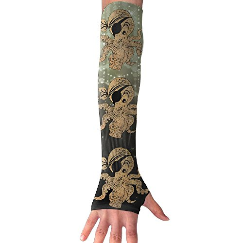 Octopus Costume Australia (Pirate Octopus Anti-UV Cuff Sunscreen Glove Outdoor Driving Half Refers Model Arm Sleeve For Riding Bicycles Fishing Running Climbing Unisex)