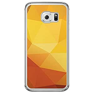 Loud Universe Samsung Galaxy S6 Edge Geometrical Printing Files A Geo 21 Printed Transparent Edge Case - Yellow/Orange