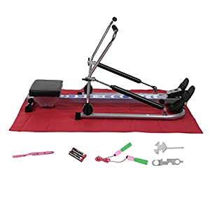 Homgrace Body Glider Rowing Machine, 250 lb Weight Capacity and LCD Monitor Home Gym Training Exercise Equipment by Homgrace