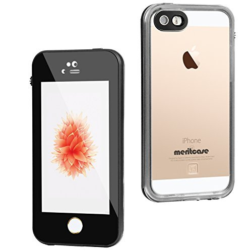 iPhone 5s Waterproof case, Meritcase CRYSTAL Waterproof Shock-Resistant Dirtproof Snowproof Case Cover for iPhone SE/5S/5