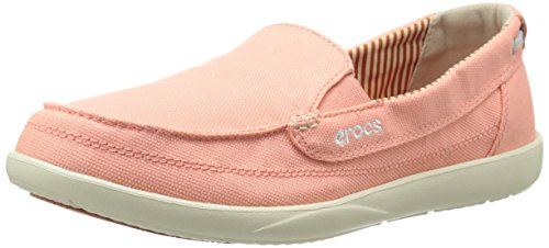 Crocs Women's Walu Canvas Loafer rose clair 9TVkfy35qX