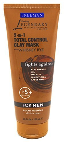 Freeman 5-In-1 Total Control Clay Mask For Men 6 oz
