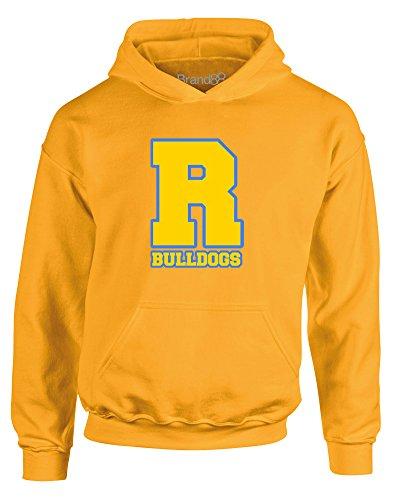 Bulldogs, Kids Hoodie - Gold 9-11 (Bull Kids Hooded Sweatshirt)