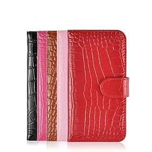 GX hhmm del grano del cocodrilo de la PU puede insertar cajas de tarjeta con soporte para el iphone 6 caso de 4.7 pulgadas (colores surtidos) , Red