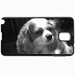 Personalized Protective Hardshell Back Hardcover For Samsung Note 3, Cavalier King Charles Spaniel Darcy Design In Black Case Color