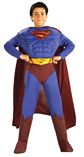 Kids-Costume Superman Deluxe Muscle Large Halloween Costume - Child (Muscle Man Circus Costume)