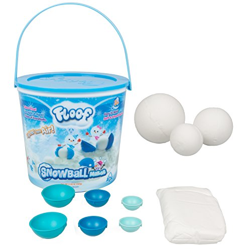 Floof Modeling Clay - Reuseable Indoor Snow - Snowball Maker With 7 Pieces. (Clay Maker)