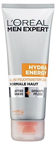L'Oréal Men Expert Hydra Energy All-In-One Feuchtigkeitspflege - Gesichtspflege und After Shave (24h Feuchtigkeitscreme für Männer), 1er Pack (1 x 75 ml)